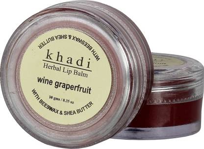 KHADI NATURAL Herbal Wine Grapefruit Lip Balm (With BeesWax & Shea Butter) Fruity