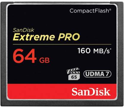 SanDisk Extreme Pro 64 GB Compact Flash UDMA 7 160 MB/s  Memory Card