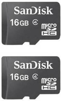 SanDisk 16 GB MicroSD Card Class 4  Memory Card