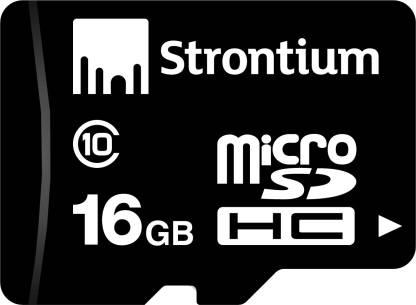 Strontium 16 GB MicroSD Card Class 10 24 MB/s  Memory Card