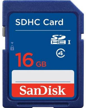SanDisk 16 GB SDHC Class 4  Memory Card