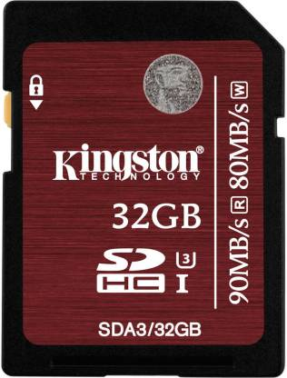 KINGSTON 32 GB SDHC Class 10 90 MB/s  Memory Card