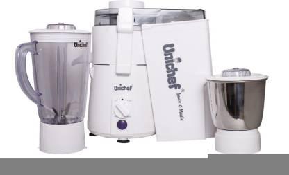 Unichef Juice-o-matic Plus XL Series 835 W Juicer Mixer Grinder (2 Jars, White)