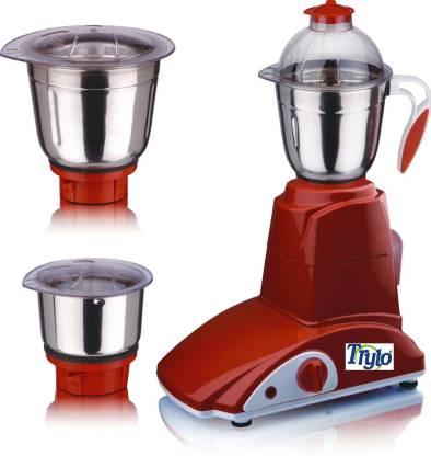 Trylo Try004 Lazer 550 W Mixer Grinder (3 Jars, Red)