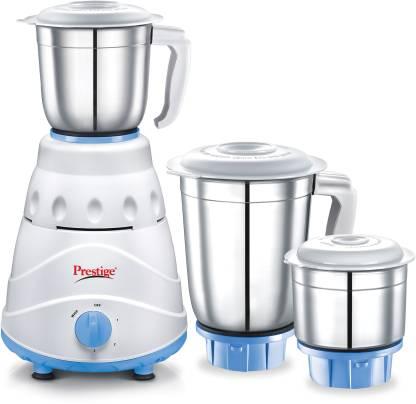 Prestige Atlas 550 W Mixer Grinder (3 Jars, white and Blue)