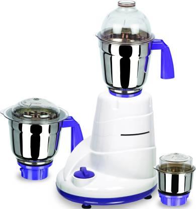 Allwyn Mixer 1 550 W Mixer Grinder (3 Jars, White,Purple)