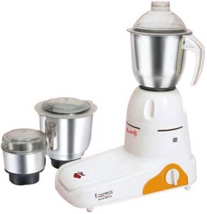Lord's Domestic/Economy Ezeemix 500 W Mixer Grinder (3 Jars, White, Orange)
