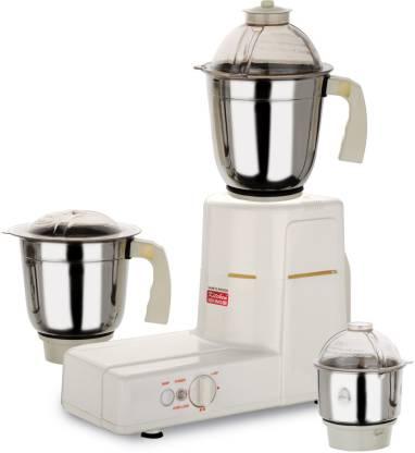 Kitchen King PM Klassic 550 W Mixer Grinder (3 Jars, White)