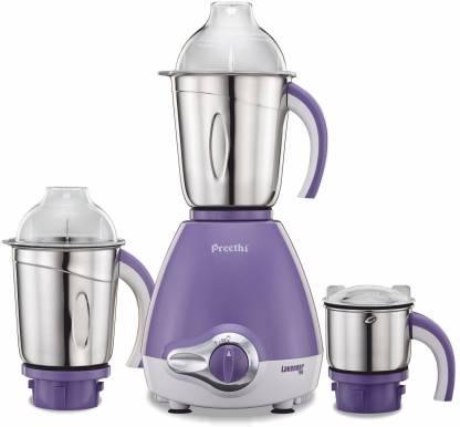 Preethi MG 176 600 W Mixer Grinder (3 Jars, Lavender)