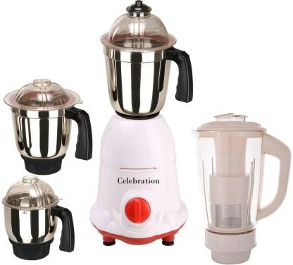 Celebration New MG16 104 C MG16 104 1000 W Mixer Grinder (4 Jars, White)