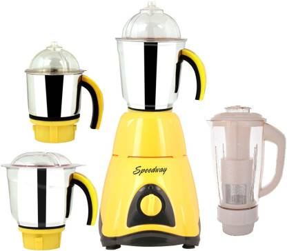 Speedway MG16 135 SW 1000 Qualis 1000 W Mixer Grinder (4 Jars, White)