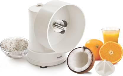 Unichef GJ Coconut Grater with Citrus Attachment 350 W Juicer Mixer Grinder