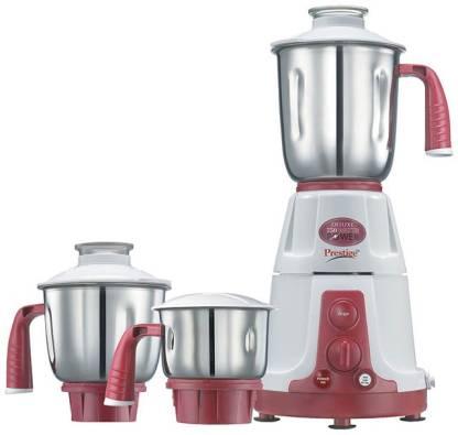 Prestige Deluxe VS 750 W Mixer Grinder (3 Jars, Red)