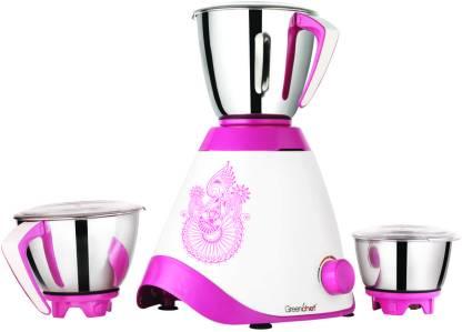 FreenChef Loft Pure 750 W Mixer Grinder (3 Jars, Pink)