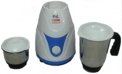 Vibro Kitchen Beauty-55 450 W Mixer Grinder (2 Jars, White and Blue)