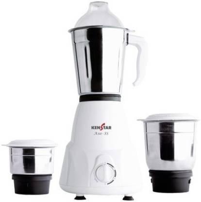 Kenstar Axe 500 W Mixer Grinder (3 Jars, White)