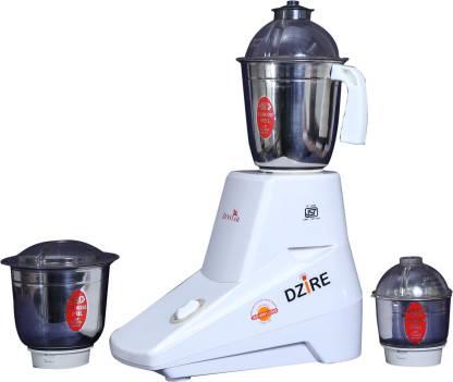 Zenstar Dzire 500 W Mixer Grinder (3 Jars, White)
