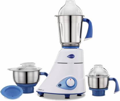 Preethi Blue Leaf MG150 750 W Mixer Grinder (3 Jars, White, Blue)