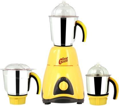 Firstchoice FC-MG16 44 600 W Mixer Grinder (3 Jars, Yellow)
