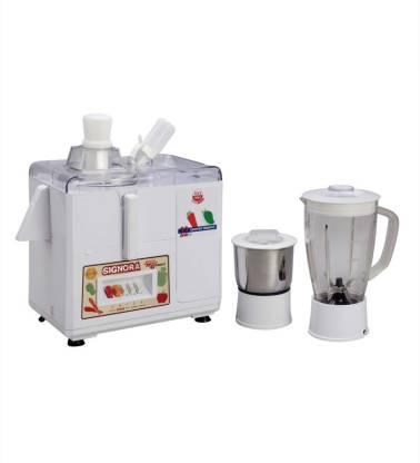 Signoracare Juicer Mixer Grinder-2100 500 W Juicer Mixer Grinder (2 Jars, White)