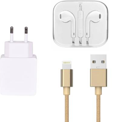 Mudit Retail Ventures Wall Charger Accessory Combo for Apple iPhone 6S