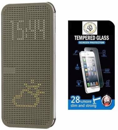 STERN & LOWE Dot View Cover For HTC Desire 820 (HTCDesire820-DOTV-TGLASS-021415-Grey) Accessory Combo