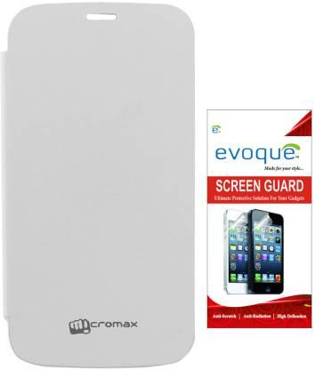 Evoque Flip Cover for Micromax A190 canvas HD
