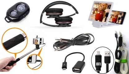 De-TechInn Headphone Accessory Combo for Universal, Samsung, Micromax, Nokia, iPhone
