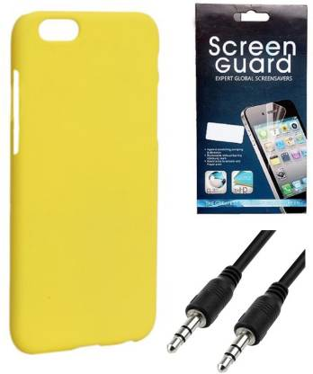 Hermit Back Cover, 3.5MM Auxiliary Charger, Screen Guard for Huawei Honor 4X Accessory Combo