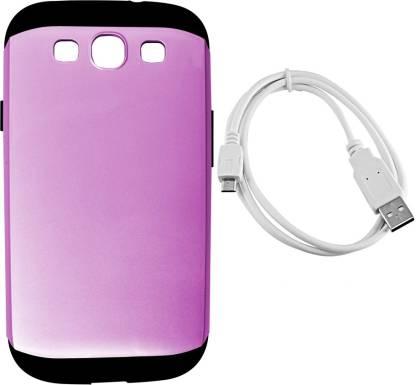 G4U Samsung Galaxy S3 I9300 (Dtacbl-Slmarm-Gunmetal4071Pink) Accessory Combo