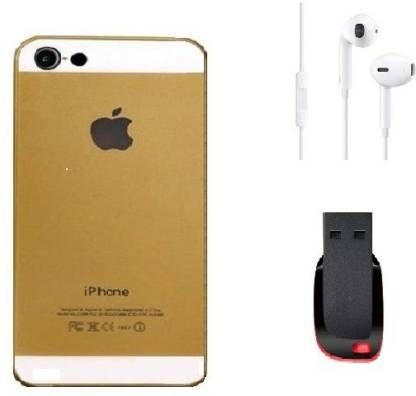 STERN & LOWE Back cover for Apple iPhone 5S With Hands Free and Pen Drive 8GB (IMB5-028) Accessory Combo