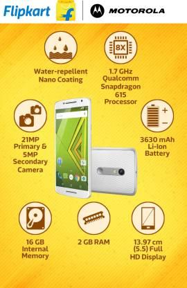 Moto X Play (White, 16 GB)