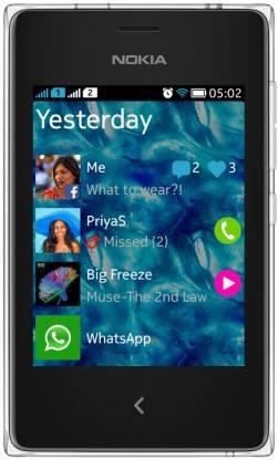 Nokia Asha 502 (White, 64 MB)