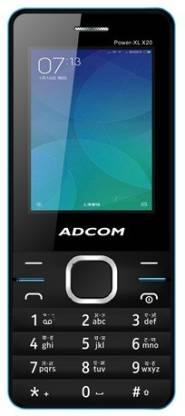 ADCOM X20 (POWER XL) Dual Sim Mobile- Black & Blue