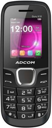 ADCOM X10 (Guru) Dual Sim Mobile- Black