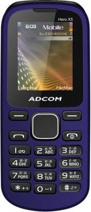 ADCOM X5 Dual Sim Mobile-Black & Blue
