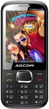 ADCOM X28 (CINEMA) Dual Sim Mobile- Black