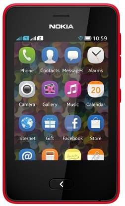 Nokia Asha 501 (Bright Red, 128 MB)