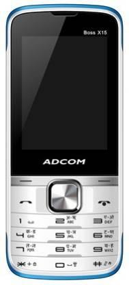 ADCOM X15 (Boss) Dual Sim Mobile-White & Blue
