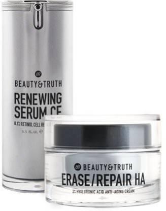 Beauty & Truth Age Restoring Bundle - Erase Repair Ha Renewing Serum