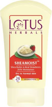 LOTUS HERBALS Sheamoist Shea Butter & Real Strawberry 24hr Moisturizer