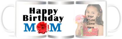 Refeel Gifts Happy Birthday Mom - Personalized Gift Ceramic Coffee Mug