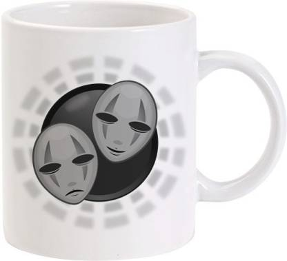 Lolprint Mascara Mask Ceramic Coffee Mug