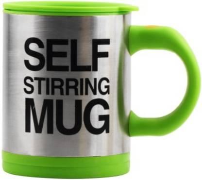 GO HOOKED Self Stir Stainless Steel, Plastic Coffee Mug