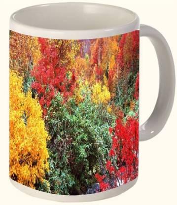 Timpax Most Popular & Best Selling Printed Ceramic 325 ML Dishwasher safe. D.No. 18045 Ceramic Coffee Mug