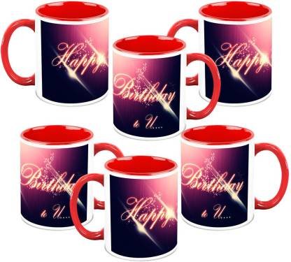 Homesogood Enjoy Your Birthday Ceramic Coffee Mug