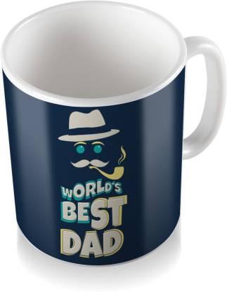 SKY TRENDS World's Best Dad With Smokstick Birthday Gifts For Father's Day Coffee Ceramic Coffee Mug