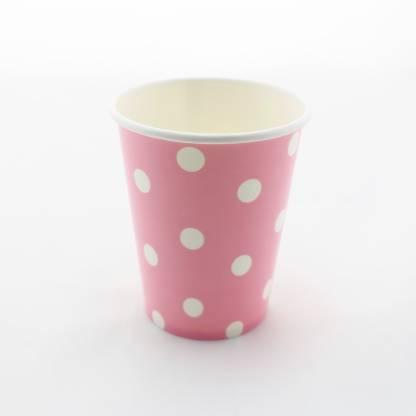 FUNCART Polka Dot Party Beverage Paper Coffee Mug
