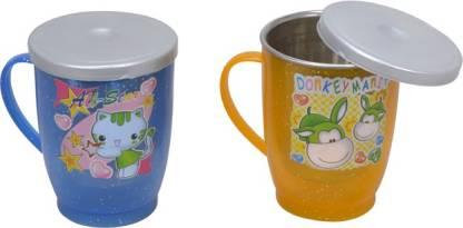ESS KAY Fancy Pair Stainless Steel, Plastic Coffee Mug