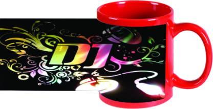 PRINTLAND DJ Let The Music Play PMMGN00744 Ceramic Coffee Mug